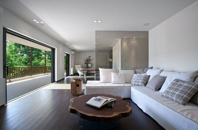 living room visual privacy