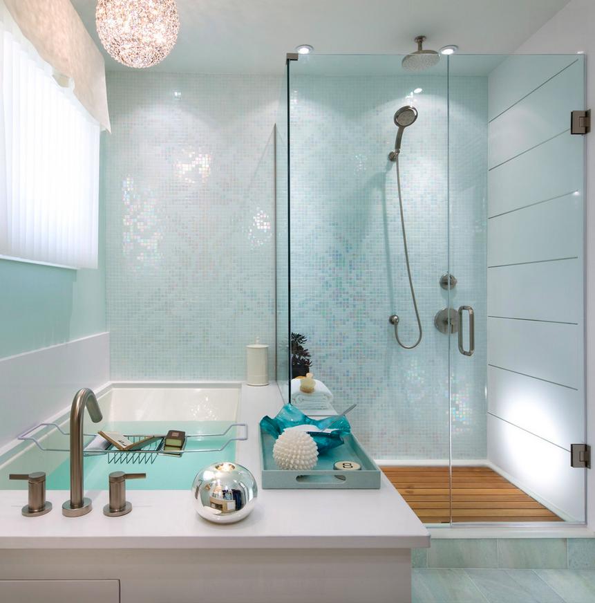 rain patterned tile bathroom shower