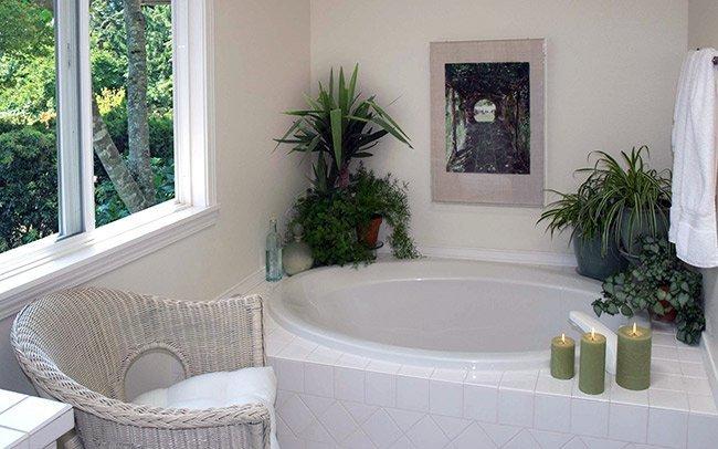 green space bathroom