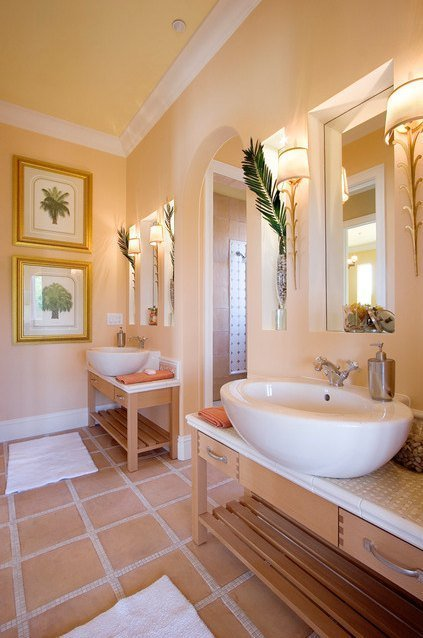 The best paint colors for every room in the house for Bathroom ideas yellow tile