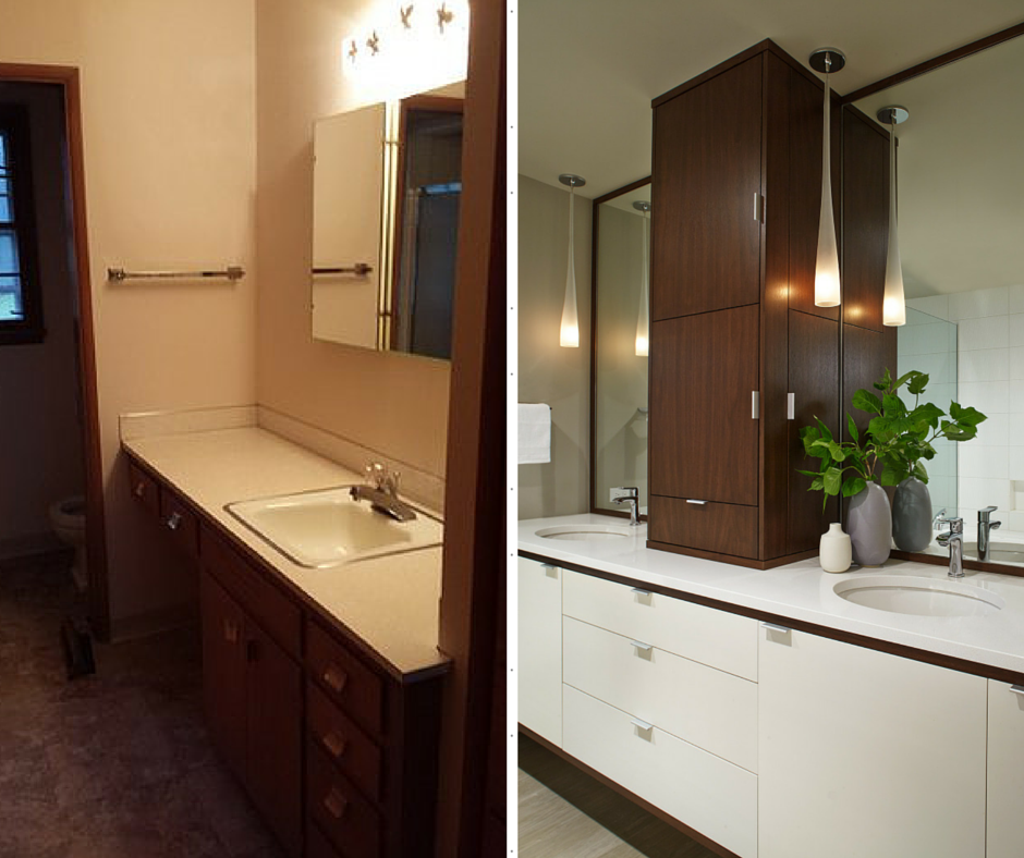 Mid-Century Bathroom Before & After