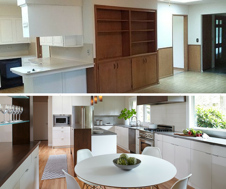 Mid Century Kitchen Before & After