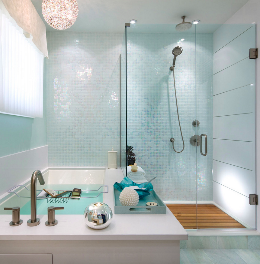 rain patterned tile bathroom shower