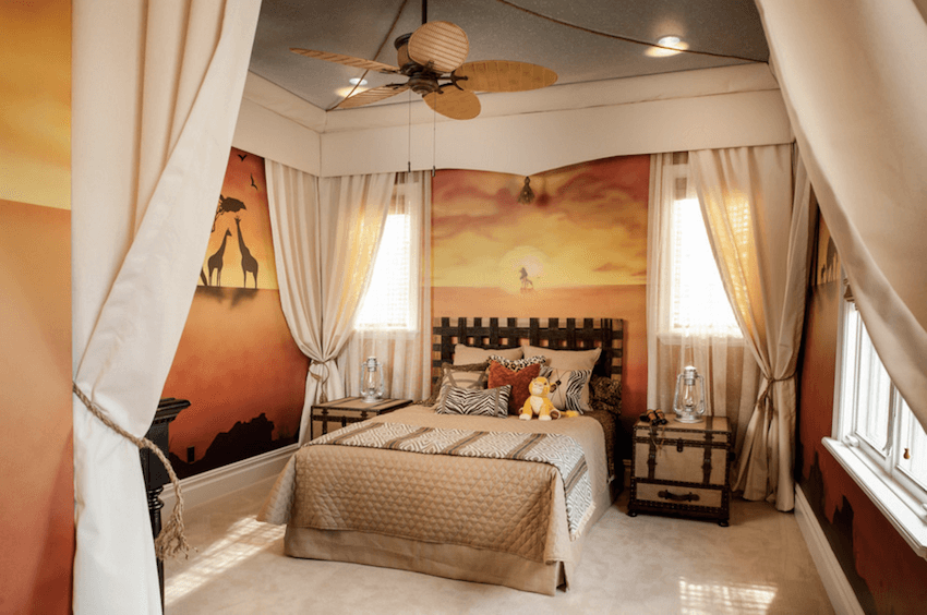 safari style bedroom
