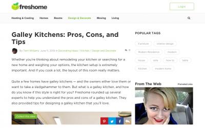 Erin Davis Talks Galley Kitchens on freshome