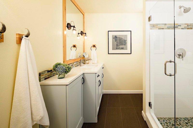 bathroom clear glass shower door