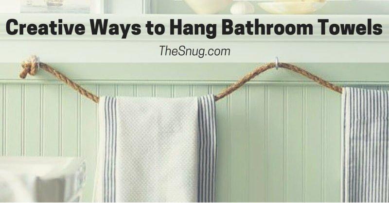 creative ways to hang bathroom towels