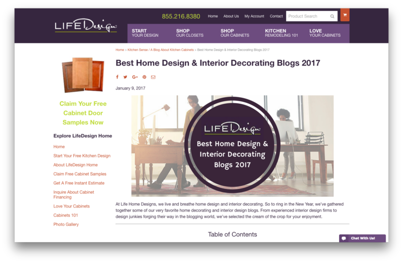 Mosaik Design Featured On Lifedesign Home As Best Blog Of 2017