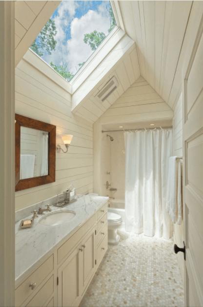small bathroom skylight