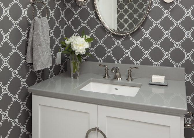 Modern Grey and White Bathroom 1