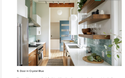 We've Got the Kitchen Blues! Mosaik Featured in Houzz